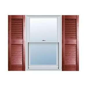 12 x 31 Builders Choice Vinyl Open Louver Window Shutters, w/Shutter