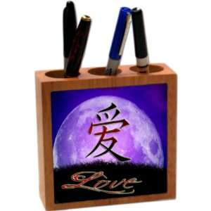 Rikki KnightTM Chinese Love on Moon Design 5 Inch Tile