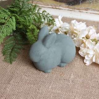 Cement Bunny Rabbit Garden Decor