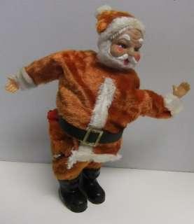 Vintage Christmas Wind Up Music Box Dancing Santa JAPAN Rough Funny