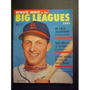 Louis Cardinals Autographed 1953 Whos Who In The Big Leagues Magazine