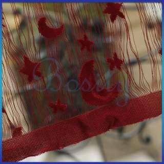 Star Moon Fringe Door Window Panel Room Divider String Curtain Strip