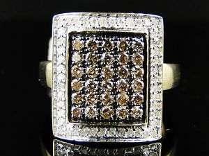 10K LADIES CHOCOLATE/BROWN DIAMOND FASHION RING 1.0 CT