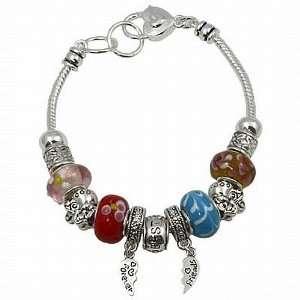 Best Friends Theme Moreno Bead Adjustable Charm Bracelet Jewelry