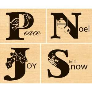 Penny Black Rubber Stamp Set 3.5X4 It Spells Merry