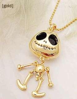 X1 Women Fashion Jewelry Gold Skull Big Eye Nana Punk Pendant Necklace