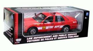 Ford Victoria Fire Dept Car Diecast 1/18 Red