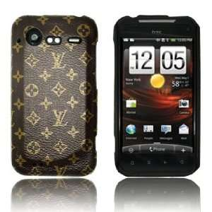 Brown Monogram Style Hard Back Cover Case for HTC Droid