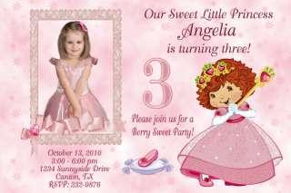 Strawberry Shortcake Princess Birthday Party Invitation