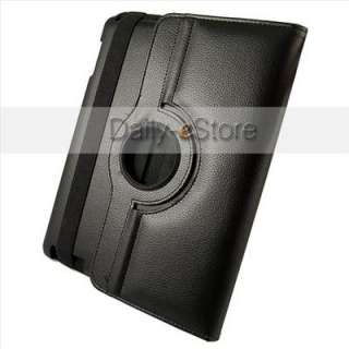 360° Black Rotating Leather Case Smart Cover Swivel Stand