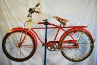Vintage 1963 Columbia Newsboy Special balloon tire bicycle bike red