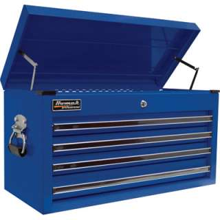 Homak 27in 4 Drawer Top Tool Chest  Blue 26 1/4inWx12inWx14 1/4inH