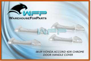 08 09 10 2010 Honda Accord 4DR Chrome Door Handle Cover