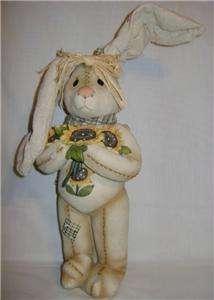 Downright Cute Resin Bunny Figurine W/Bendable Ears NIB