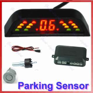 Car LED Reverse Backup Radar System 4 Parking Sensor G
