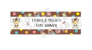 PRICE RAINFOREST JUNGLE MONKEY BABY SHOWER water bottle label wrappers