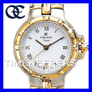 Womens Ladies DESIGNER 23k Gold Steel Luxury SWISS Watch $275 400L