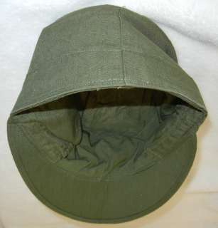 army issue o d cotton field cap with visor scarce original world war