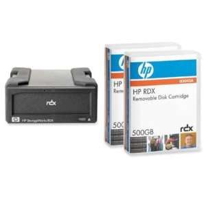 System w/ Removable Disk Cartridge, 500GB, 2 Count   HPRDX500 SYSTEM