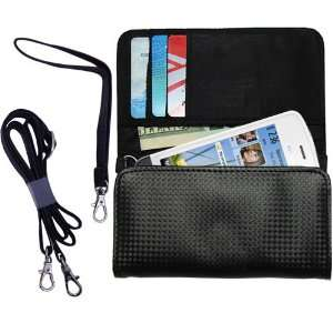 Black Purse Hand Bag Case for the Nokia C5 05 with both a