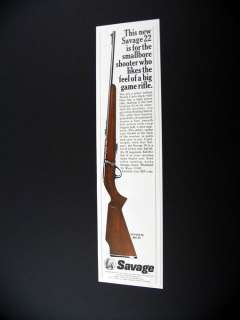 Savage Model 65 22 Rifle Gun 1967 print Ad