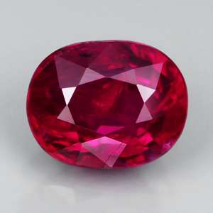 Unheated Untreated 1.02ct 5x6mm Oval Fiery Red RUBY, MOZAMBIQUE