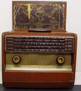 1955 Silvertone # 5227 Short Wave Radio Works Good Condition YES