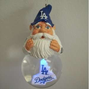 Los Angeles Dodgers Light Up Gnome Snow Globe Ornament