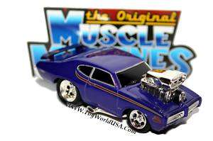Muscle Machines 69 Pontiac GTO Judge blue