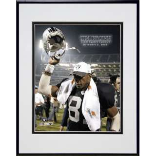 Photo File Oakland Raiders Tim Brown 1000 Career Catch Framed Photo