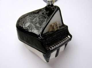 GRAND PIANO BABY BLOWN GLASS CHRISTMAS ORNAMENT