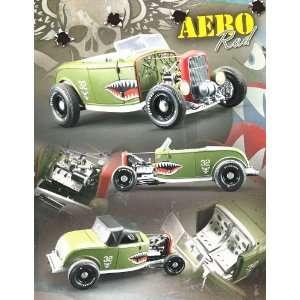 1932 Ford Deuce Highboy Aero Rod Olive Drab 1/18 GMP Toys