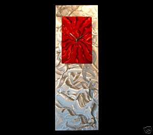 ABSTRACT MODERN METAL ART WALL CLOCK SCULPTURE ORIGINAL |