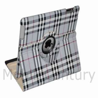 iPad 2 360 Rotating Magnetic PU Leather Case Smart Cover Swivel Stand