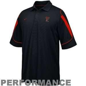 Nike Texas Tech Red Raiders Black Stiff Arm Polo