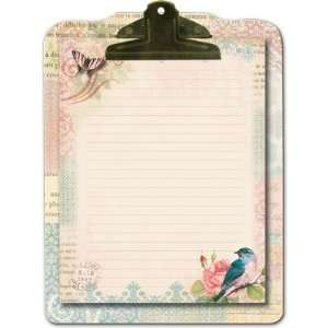 Punch Studio Clipboard & Note Pad  Flora Bird #59657