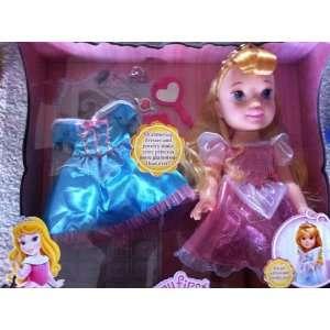 My First Disney Princess Aurora Doll with Holiday Dress