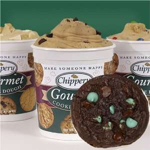 Chippery Gourmet Chocolate Mint Chip Cookie Dough   Two, 3 lb. Tubs