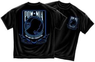 POW MIA All Gave Some Black T Shirt S   3XL