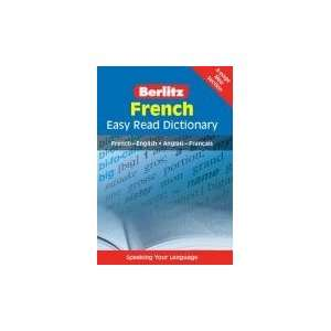 French Berlitz Easy Read Dictionary (French and English