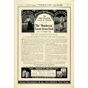 1911 Ad Peter Henderson Lawn Grass Seed Landscaping