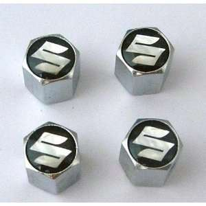 Suzuki Anti theft Car Wheel Tire Valve Stem Caps