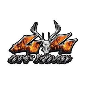 Deer Skull Wicked Series 4x4 Off Road Inferno Decals   3
