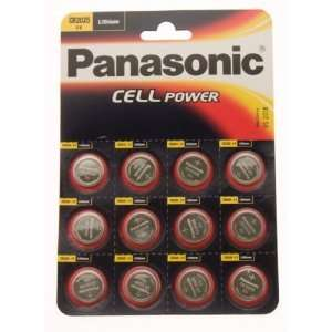12 X Panasonic Cr2025 3V Lithium Coin Cell Batteries Electronics