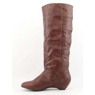 Madden Girl Zhesty Womens SZ 8.5 Brown Cognac Boots Knee Shoes