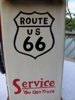 Gasoline Gas Pump Route 66 Cabinet Retro Folk Art