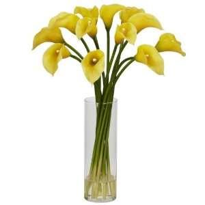 Mini Calla Lily Silk Flower Arrangement Home & Kitchen