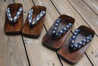 Mens Extra Large Japanese Paulownia Wooden Geta Clogs