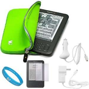 Neoprene Glove Sleeve Cover Carrying Case for  Kindle 3 Wifi 3G