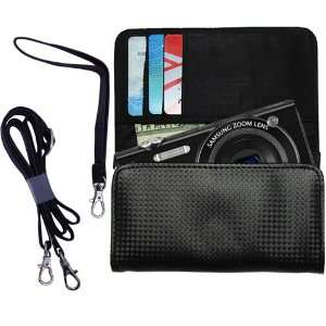 Black Purse Hand Bag Case for the Samsung SH100 with both